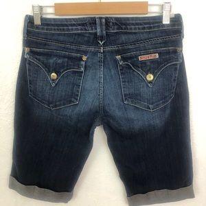 Hudson Jeans Cuffed Denim Shorts Sz 30